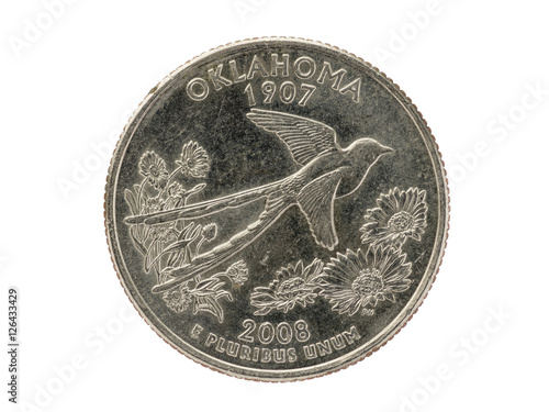 Photo  Oklahoma State Quarter Coin