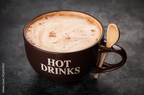 Foto op Plexiglas Chocolade Cup of hot chocolate