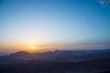 view from Mount Moses at Sinai Mountains at dawn