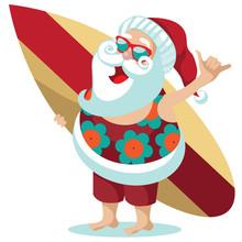 Santa Claus Giving The Hang Lo...