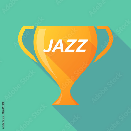 Long shadow award cup with the text JAZZ - Buy this stock