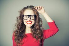 Shopping Glasses Girl