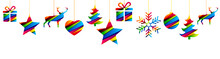 Hanging Christmas Decorations - Colorful Version