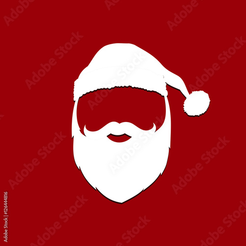 1c3888f2a1a7a Santa Claus hat and beard. Vector illustration. - Buy this stock ...