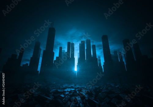 Photo City and ruins