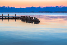 Flathead Lake Dock At Sunset