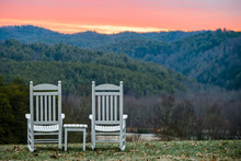 Rocking Chairs With Mountain V...