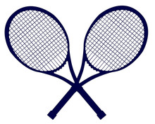 Crossed Rackets Silhouette