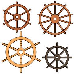 vector set of helm