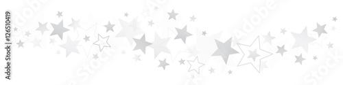Obraz Border Silver Stars - fototapety do salonu