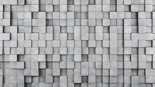 sciana-betonowi-szesciany-jako-tapeta-lub-tlo-renderowania-3d