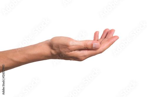 Fototapeta Male hand holding