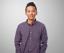 Portrait Of A Handsome Young Asian Man