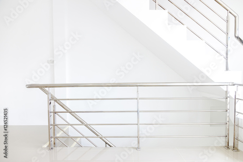 Fotomural architecture home interior design staircase stainless steel handrails