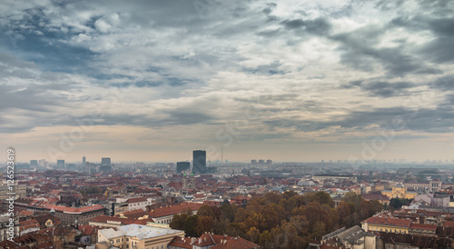 Staande foto Milan Zagreb-city scape