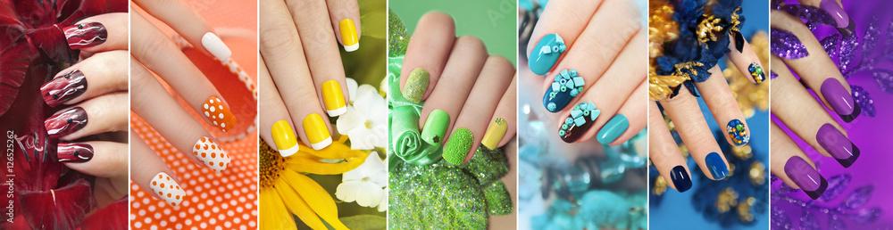 Fototapety, obrazy: Радужная коллекция из дизайна для ногтей.
