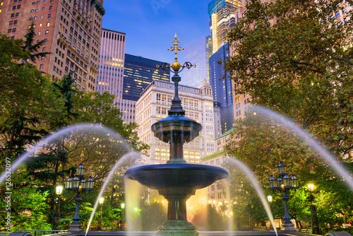 Recess Fitting New York City Hall Park