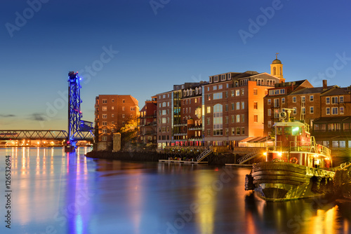 Tuinposter Stad aan het water Portsmouth, New Hampshire