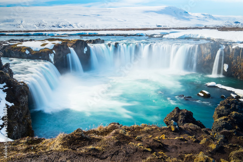 Goddafoss,the one of the most spectacular waterfalls in Iceland. - 126533693