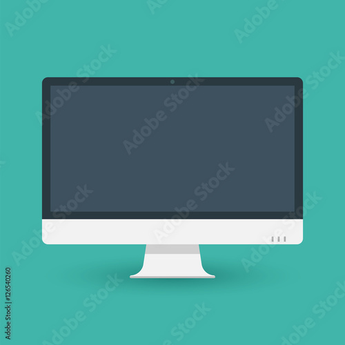 Photo  Computer pc monitor web icon vector