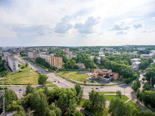 top view on the panorama of city - Kirovo-Chepetsk Russia © qwasder1987