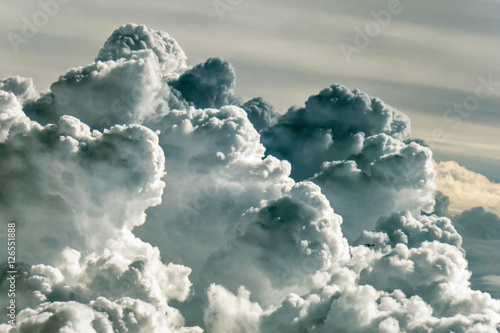 Obraz Cloudscape seen from the airplane window - fototapety do salonu