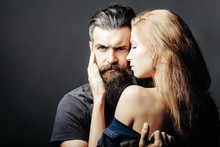 Sexy Man And Woman Embracing