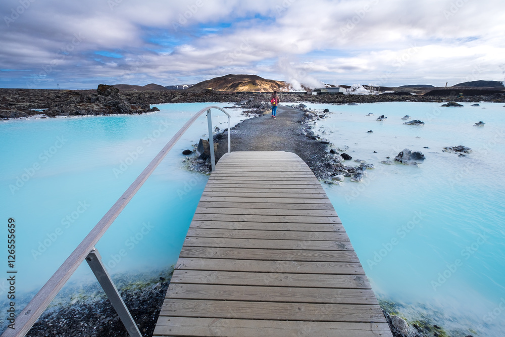 Fototapeta The Blue Lagoon geothermal spa is one of the most visited attractions in Iceland