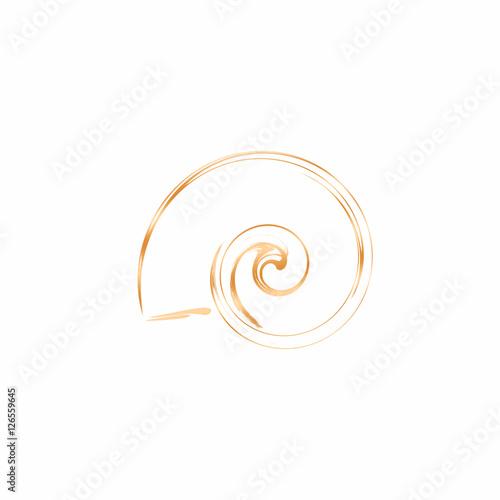 Printed kitchen splashbacks Spiral Logo - Schneckenhaus