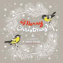 Christmas Poster. Vector Illus...