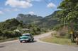 """Kuba,Vinales; Das """" Vinales Tal """" mit dem Karstgebirge, die """" Mogoten """"."""