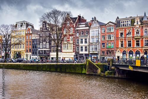 Deurstickers Amsterdam Cityscape of Amsterdam, Netherlands