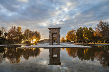 The Temple of Debod sunset