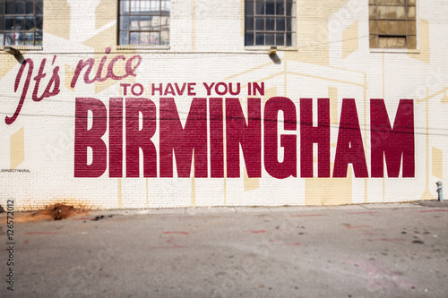 It's Nice to have you in Birmingham Canvas Print