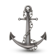 Anchor With Chain Realistic St...