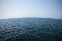 Ocean And Curved Horizon