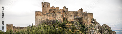 Spoed Fotobehang Kasteel Landscape with Loarre Castle in Huesca, Aragon in Spain