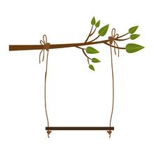 Tree Swing Icon Image Vector Illustration Design