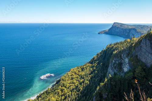 Poster Canada View from Mont-St-Alban viewpoint in Forillon National Park, Gaspe Peninsula