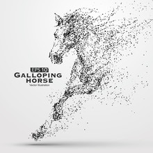Galloping Horse,Many Particles...
