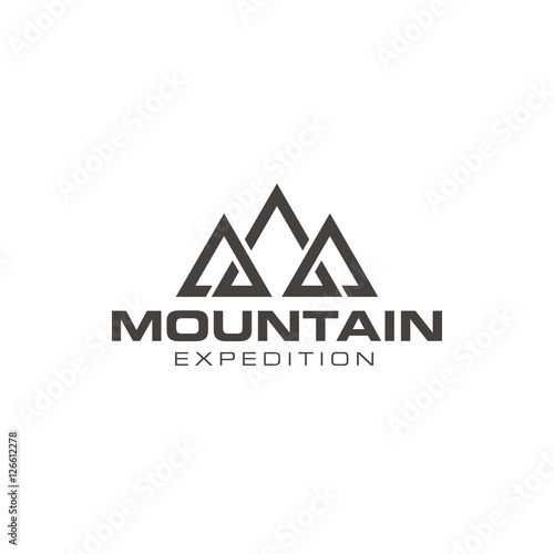 simple mountain outdoor logo design vector buy this stock vector