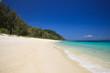 Summer beach scene and bluesky