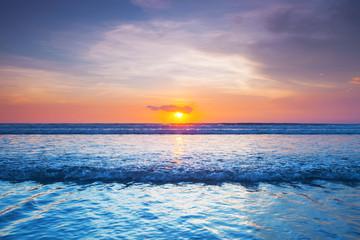 Fototapeta Sunset over sea on Bali