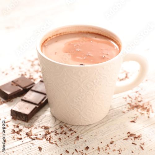 Foto op Plexiglas Chocolade hot milk with chocolate