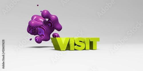 Fotografie, Obraz  VISIT - 3D rendered colorful headline illustration