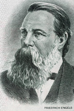 Friedrich Engels Portrait From Old German Money