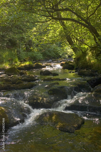 Foto op Aluminium Rivier waterfall river cascade brecon beacons national park wales