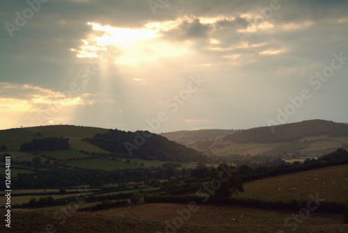 Photo  motte and bailey castle prehistoric earthwork
