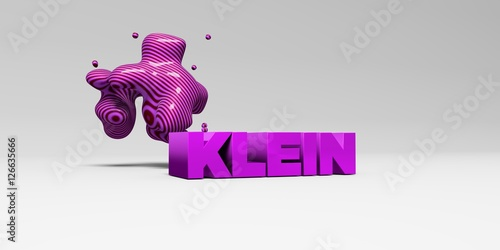 Fotografie, Obraz  KLEIN - 3D rendered colorful headline illustration