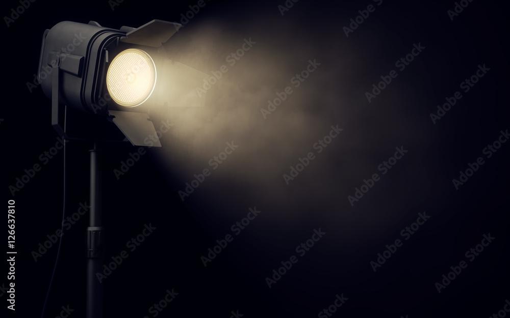 Fototapety, obrazy: Stage spotlight in dark background